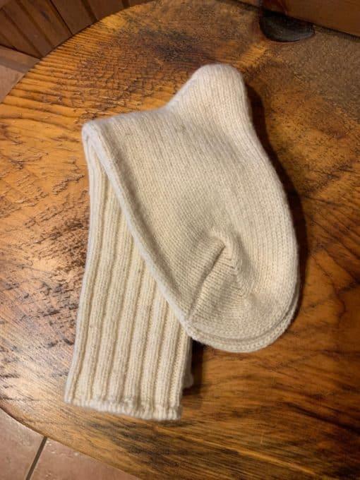 white wool socks
