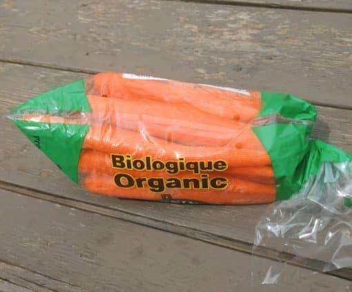 Carrots in bag