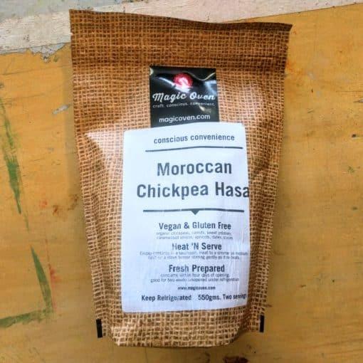 Morrocan chickpea hasa in freezable bag