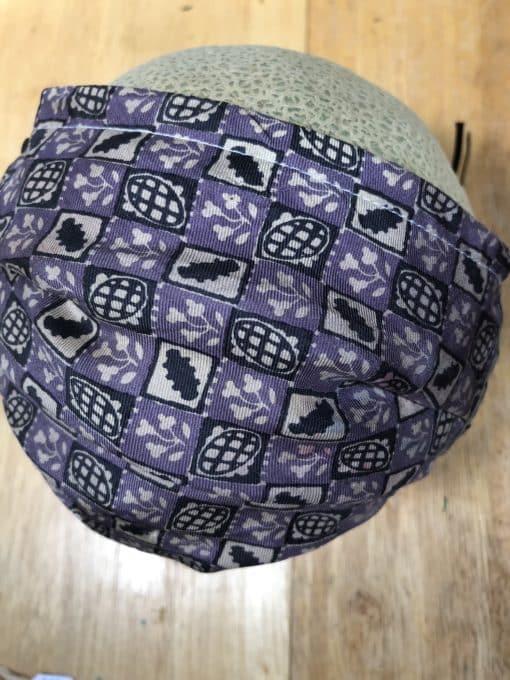purple checkerboard mask