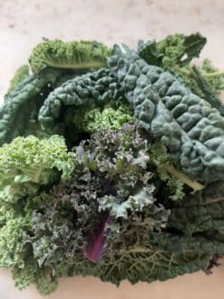 mixed kale leaves