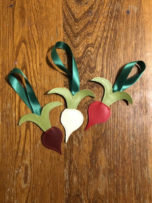 Radish Ornament Trio