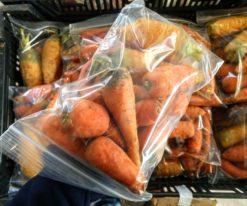 ziplock bag of carrots