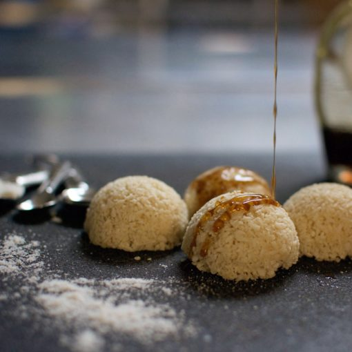 salted maple macaroons