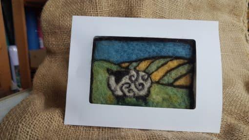 sheep felting card