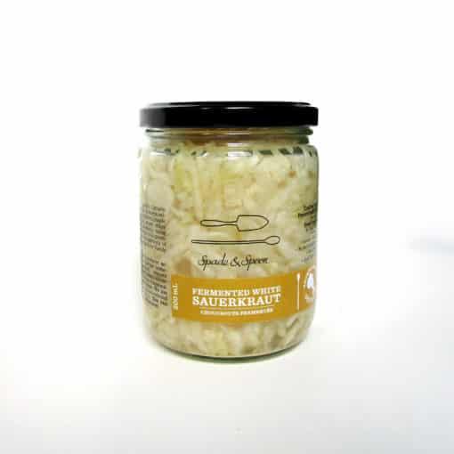 jar of white sauerkraut