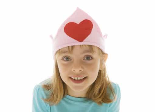 pink heart crown